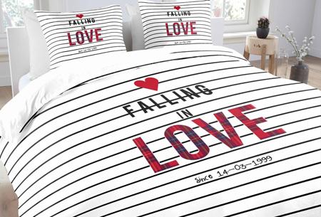 Prachtige dekbedovertrekken van 100% zacht katoen nu vanaf slechts €17,95  #3 Love stripes