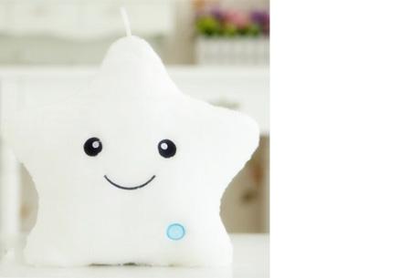 Ster LED knuffel nu slechts €12,95 | De perfecte knuffel voor jong & oud! Wit