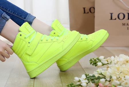 Schoenen met comfortabel ingebouwde hak nu €37,50 | Voor als je stiekem iets langer wilt zijn! Neon