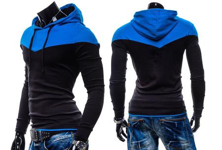 Duocolor heren sweater nu slechts €16,95 | Zacht & comfortabel #1 Zwart/Blauw