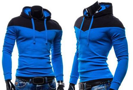 Duocolor heren sweater nu slechts €16,95 | Zacht & comfortabel #2 Blauw/Zwart