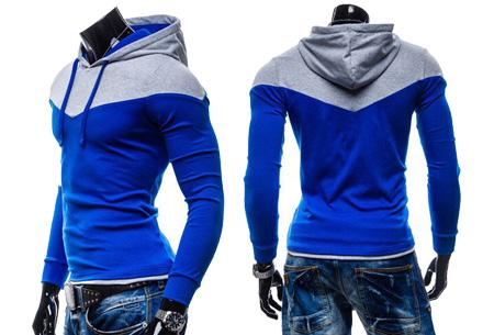 Duocolor heren sweater nu slechts €16,95 | Zacht & comfortabel #3 Blauw/Grijs