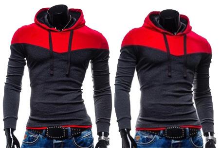 Duocolor heren sweater nu slechts €16,95 | Zacht & comfortabel #4 Donkergrijs/Rood