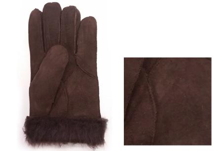 Echt lederen handschoenen met schapenwol voering nu slechts €12,95 | Voor heerlijk warme handen! bruin