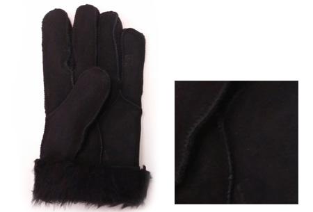 Echt lederen handschoenen met schapenwol voering nu slechts €12,95 | Voor heerlijk warme handen! zwart