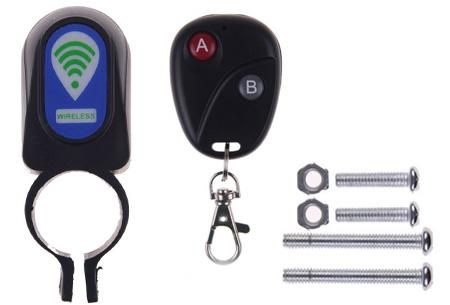 1 stuk - Fietsalarm met afstandsbediening