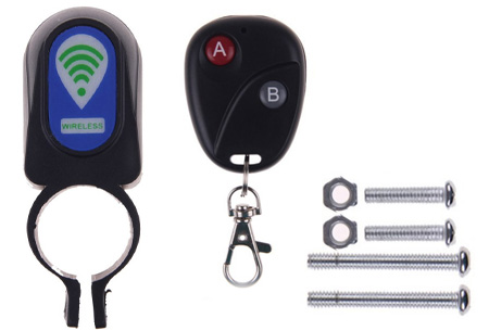 Fietsalarm met code of afstandsbediening | Extra bescherming voor je kostbare (brom)fiets! Afstandbediening