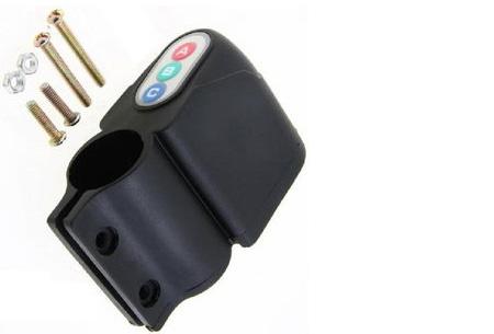 Fietsalarm met code of afstandsbediening | Extra bescherming voor je kostbare (brom)fiets! Code