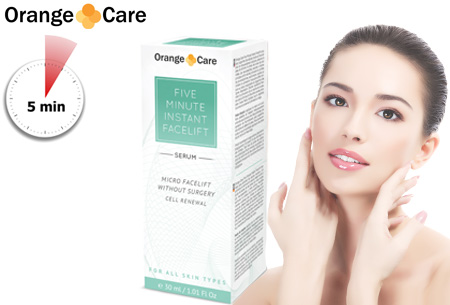 Orange Care Five Minute Instant Facelift nu voor slechts €14,95 | Voor een strakkere en jongere huid