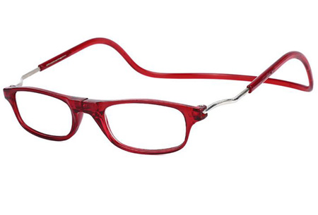 Sterkte +1 - Rood - Magnetische leesbril