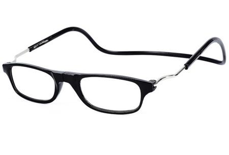 Sterkte +4 - Zwart - Magnetische leesbril