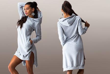 Sweater jurk nu slechts €14,95 | Comfortabel en helemaal on trend! Grijs