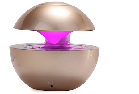 LED speaker bal met Bluetooth functie nu slechts €22,95 | Speaker en moodlamp in één! gold