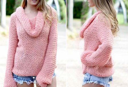 Knitted off shoulder trui nu slechts €19,95 | Stijlvol & comfortabel Roze