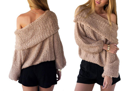 Knitted off shoulder trui nu slechts €19,95 | Stijlvol & comfortabel