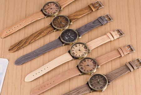 Wooden look horloge nu slechts €7,95 | Stoere horlogeband met hout look!