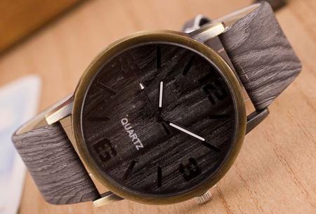 Wooden look horloge nu slechts €7,95 | Stoere horlogeband met hout look!  #2