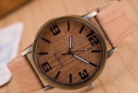Wooden look horloge nu slechts €7,95 | Stoere horlogeband met hout look!  #3