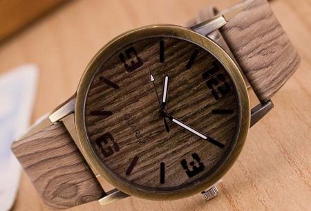 Wooden look horloge nu slechts €7,95 | Stoere horlogeband met hout look!  #5