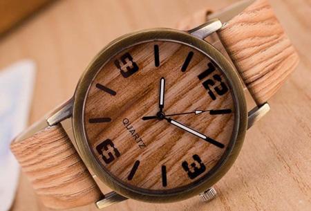 Wooden look horloge nu slechts €7,95 | Stoere horlogeband met hout look!  #6