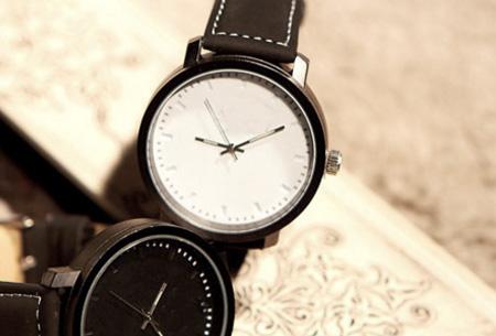 Black & White horloges nu slechts €8,95 | Met trendy grote wijzerplaat!  Wit