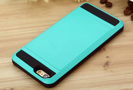 Smartphone wallet case | Voor verschillende iPhone & Samsung modellen Blauw
