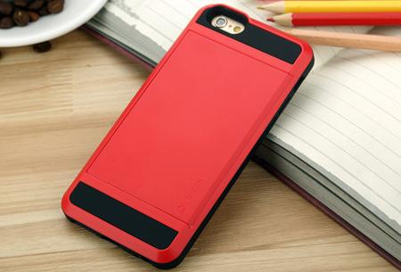 Smartphone wallet case | Voor verschillende iPhone & Samsung modellen Rood