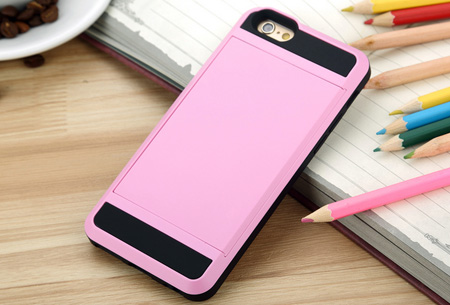 Smartphone wallet case | Voor verschillende iPhone & Samsung modellen Roze