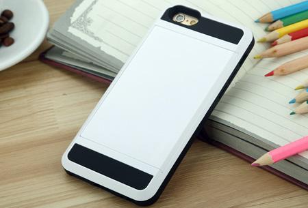 Smartphone wallet case | Voor verschillende iPhone & Samsung modellen Wit
