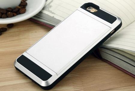 Smartphone wallet case | Voor verschillende iPhone & Samsung modellen Zilverkleurig