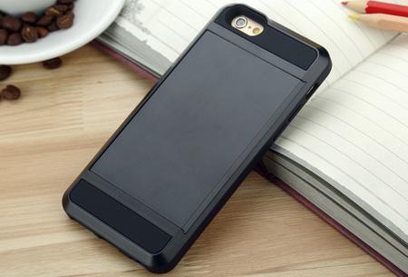 Smartphone wallet case | Voor verschillende iPhone & Samsung modellen Zwart