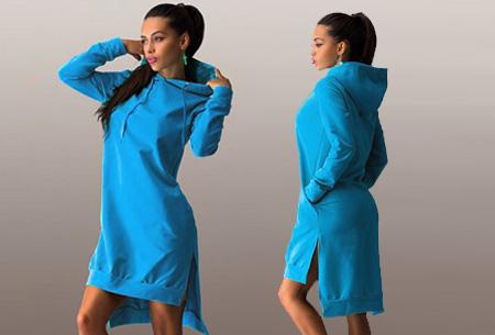 Sweater jurk nu slechts €14,95 | Comfortabel en helemaal on trend! Blauw