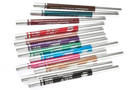Set van 12 verschillende kleuren eyeliners nu slechts €7,95 | Voor prachtige ogen!