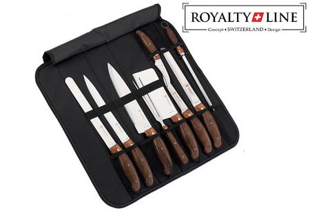 Royalty Line 9-delige koksmessenset incl. luxe draagtas nu slechts €19,95!