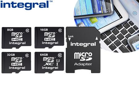 Micro SD-kaart 8GB, 16GB, 32GB of 64GB + adapter nu al vanaf €5,95 | Ideaal voor je smartphone, camera, tablet of laptop