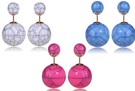 3 Paar Double Pearl oorbellen t.w.v. €44,85 nu GRATIS
