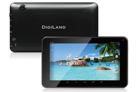 DigiLand DL700D Android tablet nu slechts €69,95 | Perfect voor internetten, spelletjes, e-mail & meer!