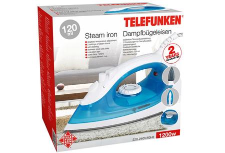 Telefunken stoomstrijkijzer nu slechts €9,95 | Strijk je kleding snel en moeiteloos glad!