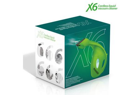 X6 draadloze vloeistofzuiger nu slechts €24,95 | Voor schone ramen in een handomdraai