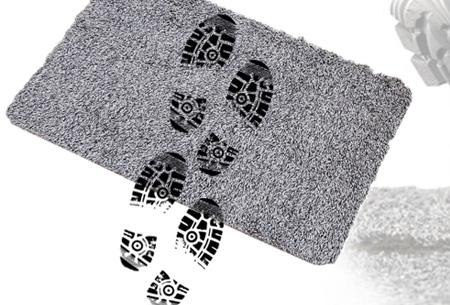 Droogloopmat met anti-slip nu slechts €9,95 | Absorbeert al het vuil van jouw schoenen!