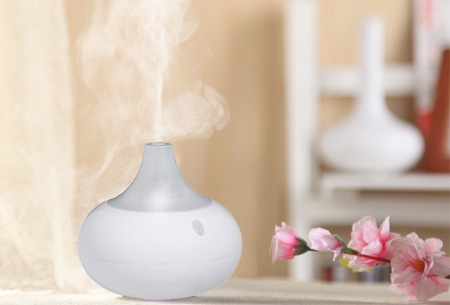 Aroma LED geurverspreider en luchtbevochtiger met of zonder geurolie nu al vanaf €19,95