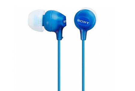 Sony oordopjes nu slechts €12,95 | Voor uitstekende geluidskwaliteit Blauw