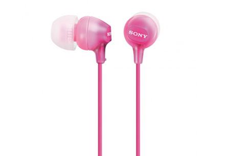 Sony oordopjes nu slechts €12,95 | Voor uitstekende geluidskwaliteit Roze