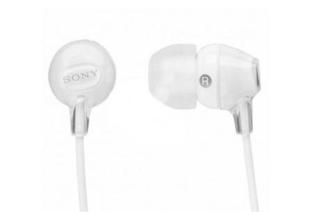 Sony oordopjes nu slechts €12,95 | Voor uitstekende geluidskwaliteit Wit
