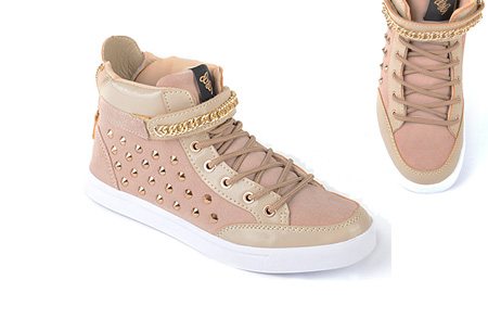 Glitz & Glam sneakers nu slechts €29,95 | Trendy & comfortabele schoenen Beige