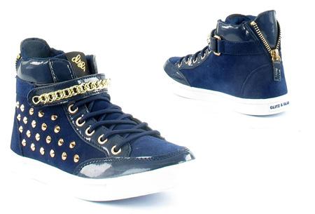 Glitz & Glam sneakers nu slechts €29,95 | Trendy & comfortabele schoenen Navy