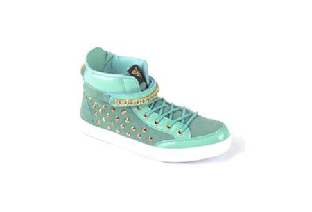 Glitz & Glam sneakers nu slechts €29,95 | Trendy & comfortabele schoenen Turquoise