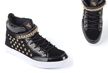 Glitz & Glam sneakers nu slechts €29,95 | Trendy & comfortabele schoenen Zwart