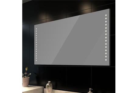Badkamerspiegel met led verlichting for Badkamer spiegel 60x80