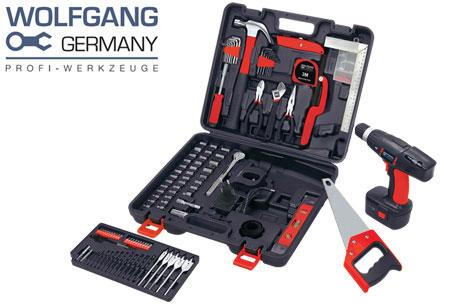 173-delige Wolfgang gereedschapsset inclusief accuboormachine nu slechts €74,95 | Al het gereedschap dat je nodig hebt!